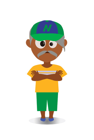 Grumpy and Unhappy, Surprised Avatar of Cartoon Character in Flat Vector - Use as Emoji. Illustration