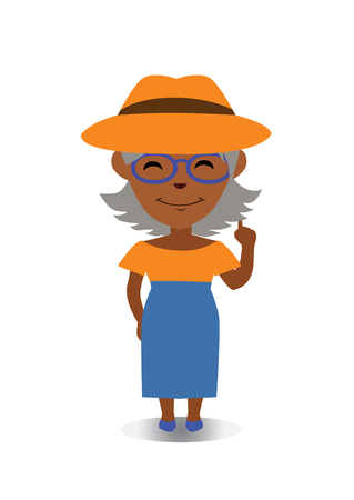 Happy, Smiling and Laughing Avatar of Cartoon Character in Flat Vector. Illustration