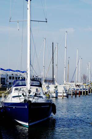 volendam: Passenger liners, boats and sail boats in Volendam Harbour, Holland