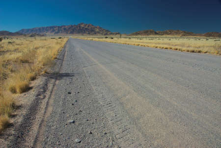 horison: Gravel road south from Solitaire town, Namibia