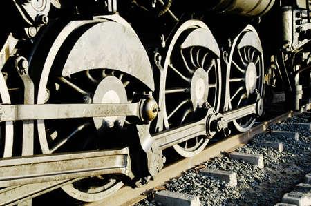 to depart: Vintage steam train preparing to depart from Swakopmund station on Namibias westcoast
