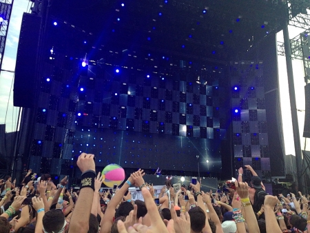 hands up in the air for the concert