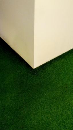 인공 잔디 코너입니다. 스톡 콘텐츠
