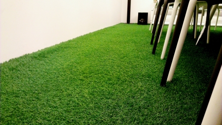 회의실에서 인공 잔디입니다.