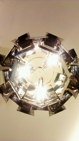 modern: Modern ceiling light.