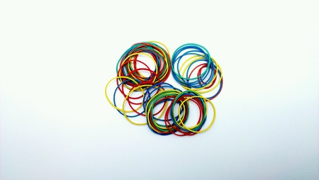 rubberband: Colorful rubber band.