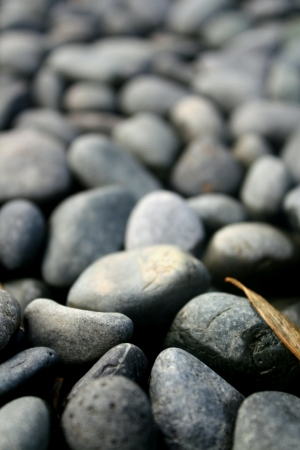 Close-Up of assorted pebbles