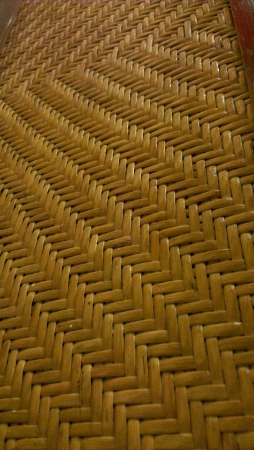 wickerwork:  Woven rattan product s textures and patterns