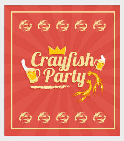 Crayfish Party Vector
