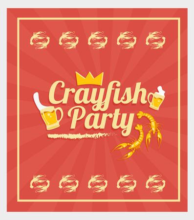 Crayfish Party Vector