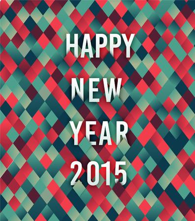 New Year 2015 greeting 矢量图像