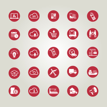 communication industry: Icon set - shipping and delivery