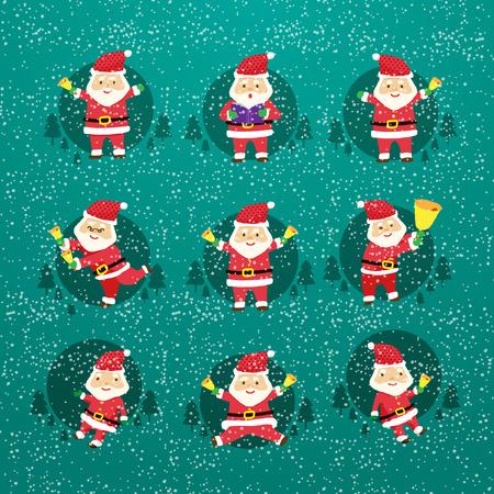 Cheerful Santa Claus vector Vector