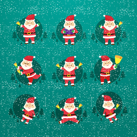 Cheerful Santa Claus vector
