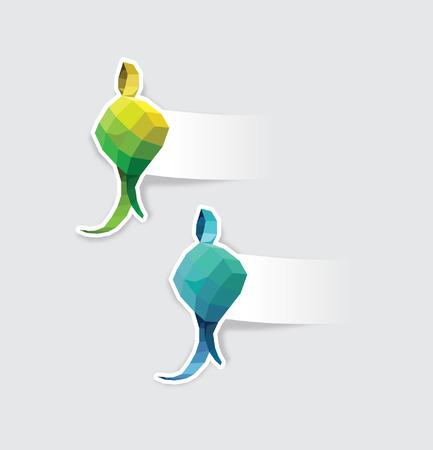 Ketupat shaped labels