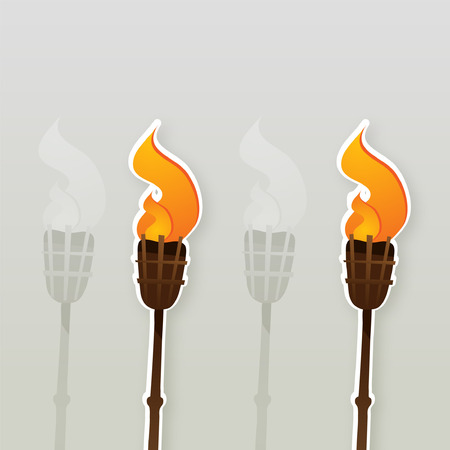 tiki party: Muslim Torch Bamboo clipart