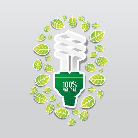 bombillo ahorrador: GO Verde ECO Concepto de energía bombilla