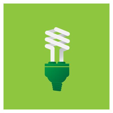 GO Green ECO Energy Concept light Bulb Vector