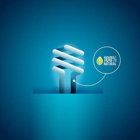 bombillo ahorrador: GO Verde ECO Concepto de energ�a bombilla