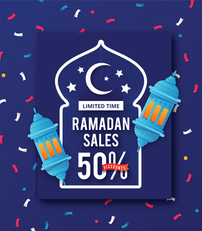Ramadan Sales design concept Illustration