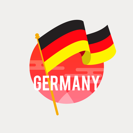 독일의 국기입니다. 깃발을 흔들며 독립 기념일이나 날을 기념합니다. 스톡 콘텐츠 - 86320251