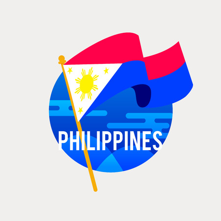 The Flag of Philippines.Celebrating Independence or National Day with Waving Flag.Anniversary of the June 12, 1898.
