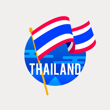 The Flag of Thailand.Celebrating Independence or National Day with Waving Flag.
