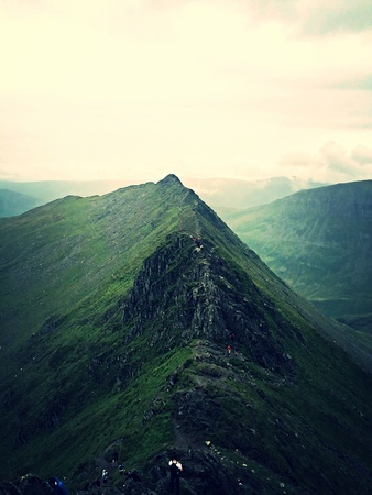 edge: Striding edge Stock Photo