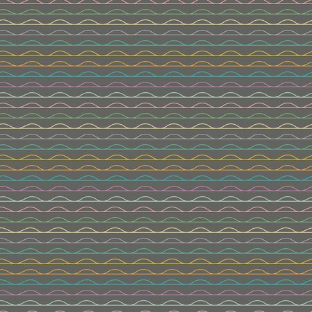 Wavy stripe vector repeat pattern. Perfect for gift, products, scrapbooking, wallpaper, home.