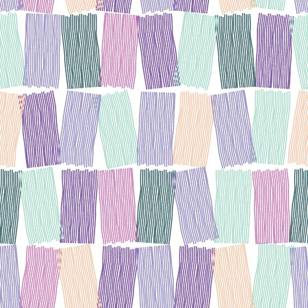 Wiggly lines in blocks texture background. Vector repeat pattern. Great for home decor, wrapping, scrapbooking, wallpaper, apparel, gift, kids.