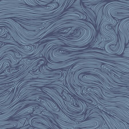 Wavy lines hand drawn illustration. Sea swirl water. Vector. Great for home decor, wrapping, scrapbooking, wallpaper, gift.
