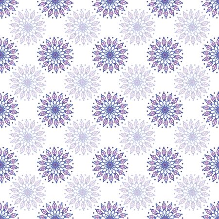 Tonal geometric floral blooms and stars. Pattern for fabric, backgrounds, wrapping, textile, wallpaper, apparel. Vector illustration.