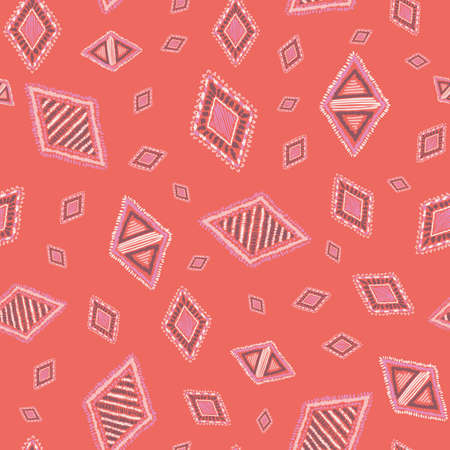Embroidery vector seamless repeat pattern design. Great for textiles, homeware, statonary