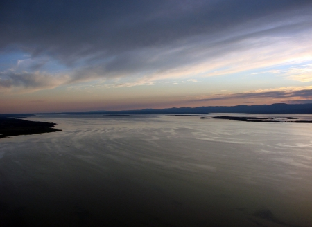 airplane ultralight: St-Lawrence river from bird s view