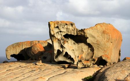 remarkable: Kangaroo Island Remarkable Rocks Stock Photo