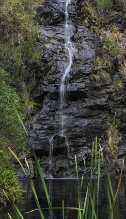 gully: Waterfall gully silky water Stock Photo