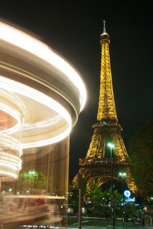 merry go round: Merry go round with eiffel tower