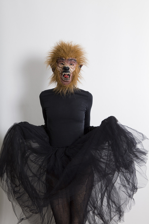 animal tutu: werewolf woman wearing a tutu