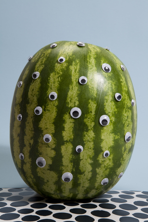 freak: watermelon transform into a freak Stock Photo