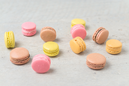 Macarons are small round delicious french confections, made with meringue and a sweet flavored filling. Commonly found in french bakeries, these tasty treats are light, crisp and often colorful.