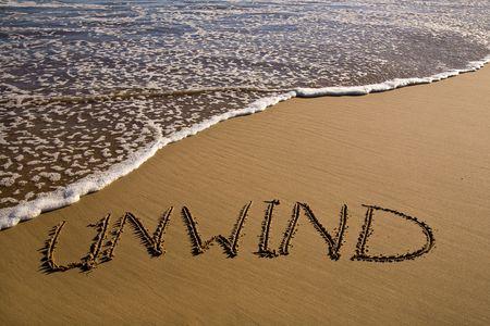 unwind: Golden beach sand with