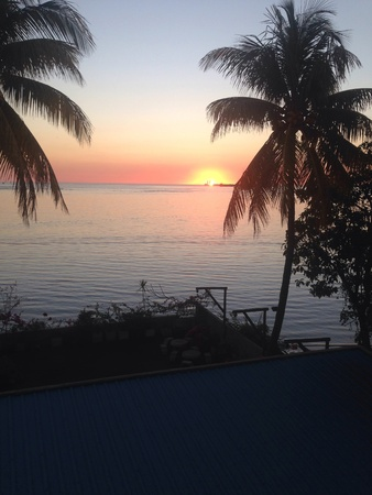 mauritius: Sunset view from lodge at Mauritius