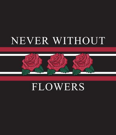 Tipografía con flor para estampado de camisetas. Foto de archivo - 109554284