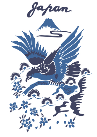 Hand drawn eagle vector design for t shirt printing