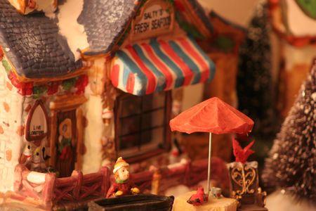 A christmas house decoration photo