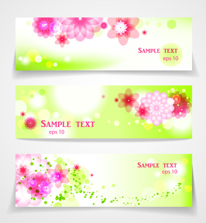 saturate: Abstract floral banners