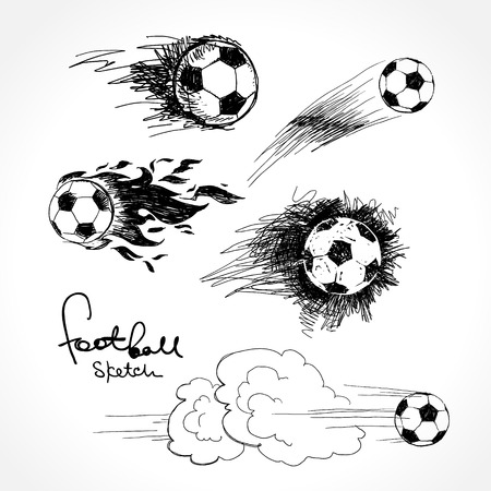 soccer game: Football sketch Illustration