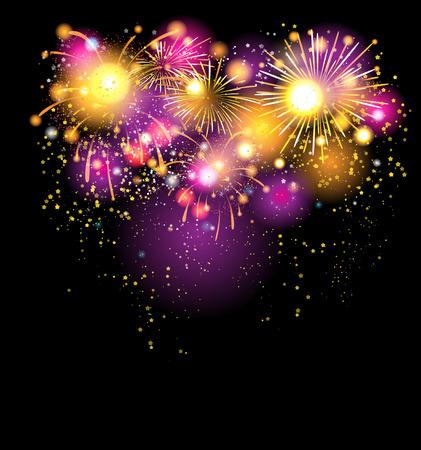 holiday background: Beautiful holiday firework background
