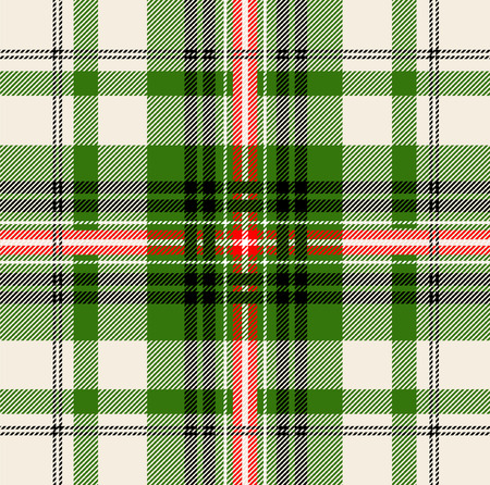 clan: Green tartan pattern. Vector plaid seamless background.