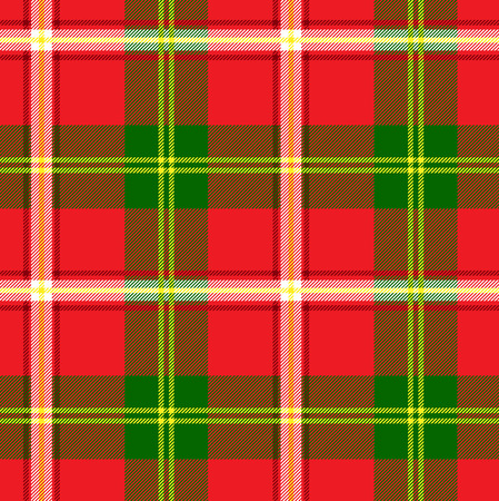 plaid pattern: Red and green plaid pattern. Seamless background